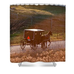 Amish Buggy Afternoon Sun Shower Curtain