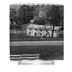 Amish Farm Shower Curtain by Kathleen Struckle