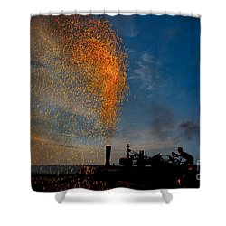 Amish Fireworks Shower Curtain