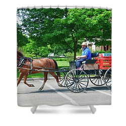 Amish Merchant 5671 Shower Curtain by Guy Whiteley