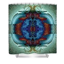 Shower Curtain featuring the photograph Amoebic Implosion by WB Johnston