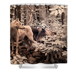 Among Mixed Company Shower Curtain by William Fields