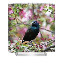 Shower Curtain featuring the digital art Among The Blooms by Betty LaRue
