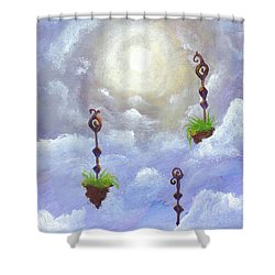 Among The Clouds Shower Curtain