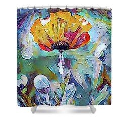 Among The Poppies II Shower Curtain