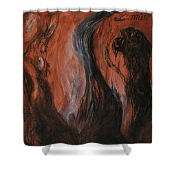 Amongst The Shades Shower Curtain by Christophe Ennis