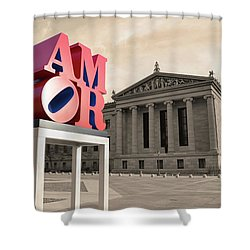 Shower Curtain featuring the photograph Amor - Love by Bill Cannon