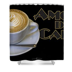 Amore Del Caffe Poster Shower Curtain