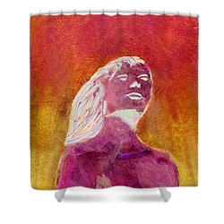 Shower Curtain featuring the painting Amphitrite Siren Of Sunset Reef by Donna Walsh