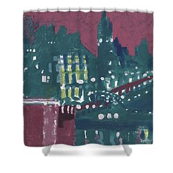 Amsterdam At 4am Shower Curtain by Jerry W McDaniel