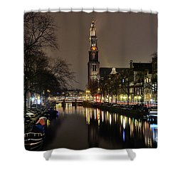 Amsterdam By Night - Prinsengracht Shower Curtain