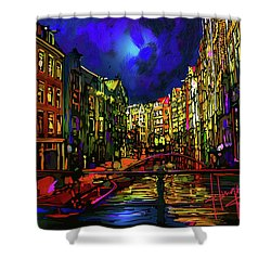 Amsterdam Canal Shower Curtain