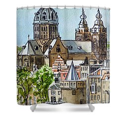 Amsterdam Holland Shower Curtain by Irina Sztukowski