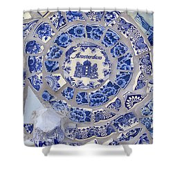 Amsterdam In Blue Shower Curtain