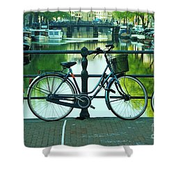 Shower Curtain featuring the photograph Amsterdam Scene by Allen Beatty