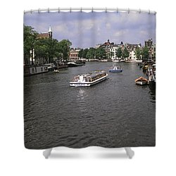 Amsterdam Water Scene Shower Curtain