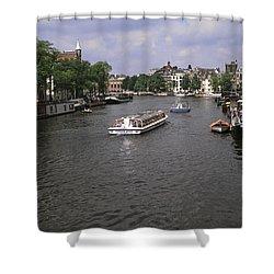 Amsterdam Water Scene Shower Curtain by Sally Weigand
