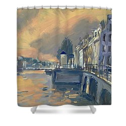 Amsterdm Morning Light Amstel Shower Curtain