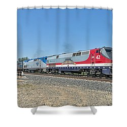 Amtrak 42  Veteran's Special Shower Curtain by Jim Thompson