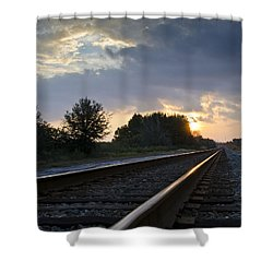Amtrak Railroad System Shower Curtain