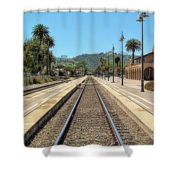 Amtrak Station, Santa Barbara, California Shower Curtain