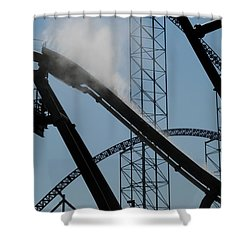 Amusement Park Abstract Shower Curtain by Frozen in Time Fine Art Photography