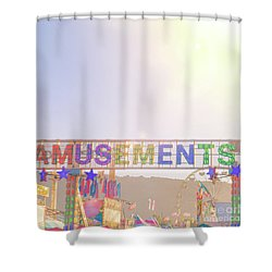 Shower Curtain featuring the photograph Amusements by Cindy Garber Iverson