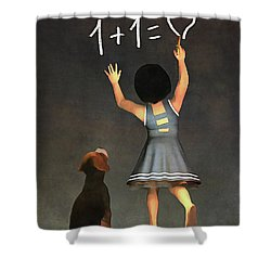 Amy Educating Buddy Math Shower Curtain
