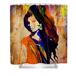 Amy Winehouse Shower Curtain by Marvin Blaine