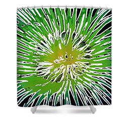An Abstract Scene Of Sea Anemone 2 Shower Curtain by Lanjee Chee