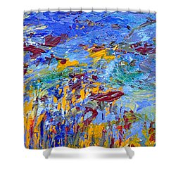 An Abstract Vision Under The Sea Shower Curtain