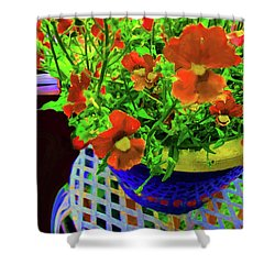 Lots Of Blooms Shower Curtain
