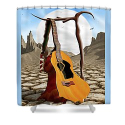 An Acoustic Nightmare Shower Curtain by Mike McGlothlen