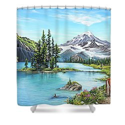 An Afternoon Adventure Shower Curtain by Joe Mandrick