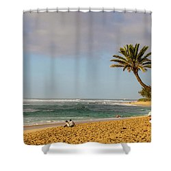 An Afternoon At Sunset Beach Shower Curtain