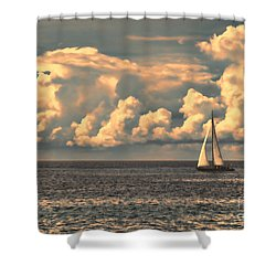 An Afternoon Sailing Shower Curtain