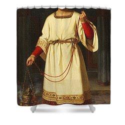 An Altar Boy Shower Curtain by Abraham Solomon