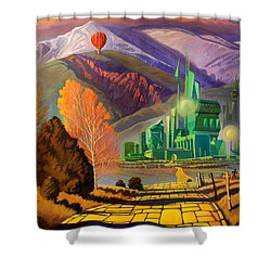 Shower Curtain featuring the painting Oz, An American Fairy Tale by Art West