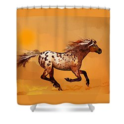An Appaloosa Called Ginger Shower Curtain