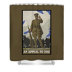 An Appeal To You Shower Curtain by War Is Hell Store