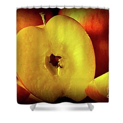 An Apple A Day Shower Curtain by Brian Roscorla
