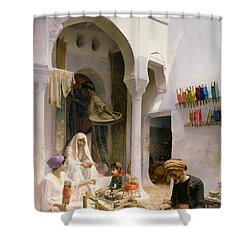 An Arab Weaver Shower Curtain by Armand Point