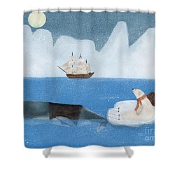 Shower Curtain featuring the painting An Arctic Adventure by Bri B