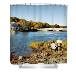 An Artist's Rendering Shower Curtain by Diana Angstadt