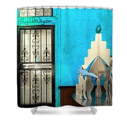 An Artsy House In Brooklyn New York  Shower Curtain by Funkpix Photo Hunter