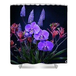 An Aussie Flower Arrangement Shower Curtain by Gary Crockett