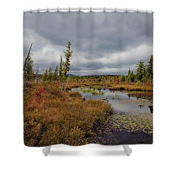Shower Curtain featuring the photograph An Autumn Afternoon On Raquette Lake by David Patterson