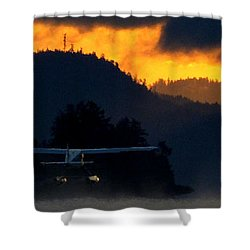 Another Early Departure Shower Curtain