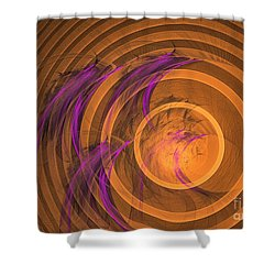 An Echo From The Past - Abstract Art Shower Curtain