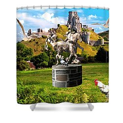An Echo Of Past Time Shower Curtain